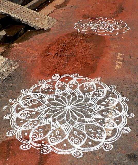 The sampradaya sun independent vaisnava news feature for Floor rangoli design